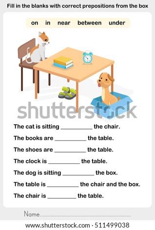Fill Blanks Correct Prepositions Preposition Worksheet