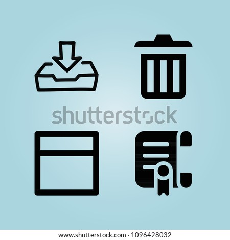 Filled Interface 4 Vector Icons Set Stock Vector 1096428032