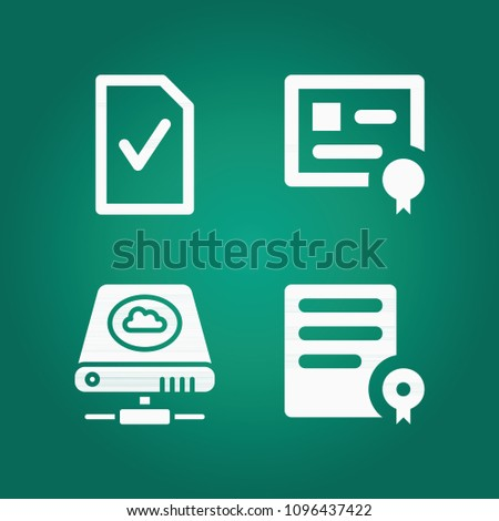 Filled Interface 4 Vector Icons Set Stock Vector 1096437422