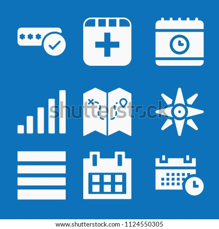 filled set 9 interface icons such stock vector 1124550305 shutterstock