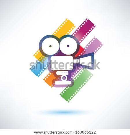 film and camera vector icon - stock vector