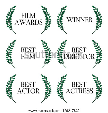 Film Awards Winners 1 - stock vector