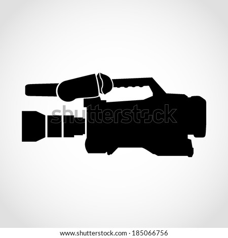 Film Camera Icon Isolated on White Background - stock vector