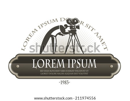 Film camera. Vector format - stock vector