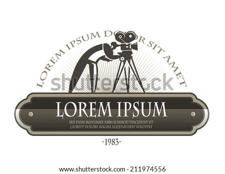 Film camera. Vector format - stock vector