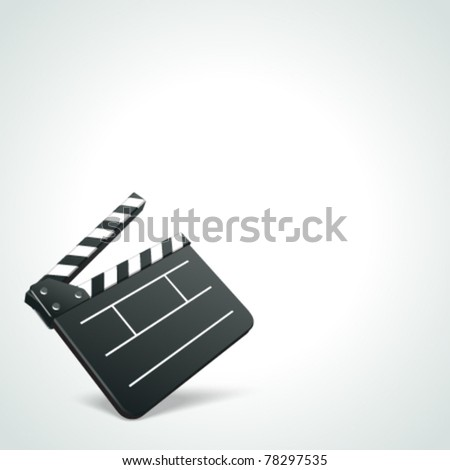 Film clap board cinema vector background. Eps 10. - stock vector