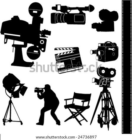 film collection - vector - stock vector
