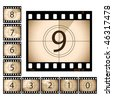 Film Countdown with separate frames - stock photo