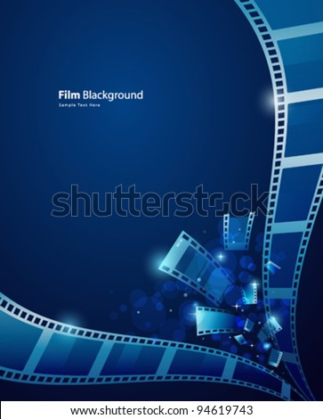 film for photos blue background, vector illustration