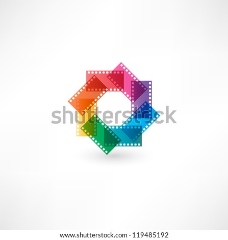 Film icon. - stock vector