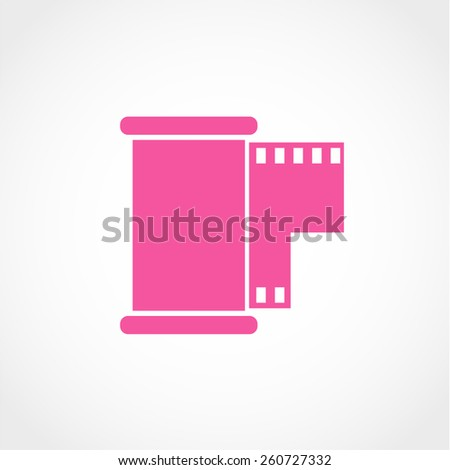Film Icon Isolated on White Background - stock vector