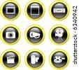 film icons - stock vector