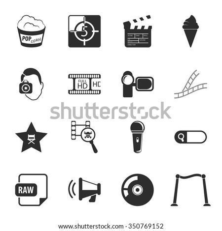 Film icons set. Film icons simple. Film icons. Film set app. Film set vector. Film set eps. Film icons ui. Film icons sign. Film icons art. Film set. Film set logo. Film set web. Film set ui. Film. - stock vector