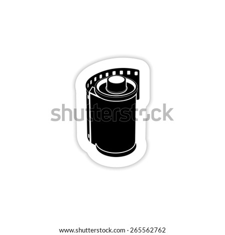 film movie on a white background with shadow - stock vector