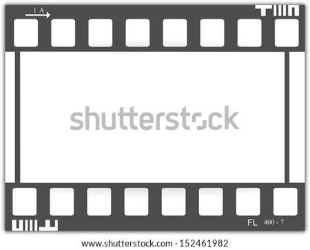 Film, movie, photo, filmstrip, cinema - stock vector