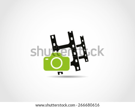 Film Movies Camera Videography - stock vector