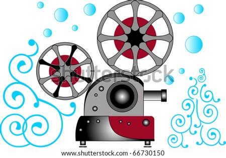 film projector - stock vector