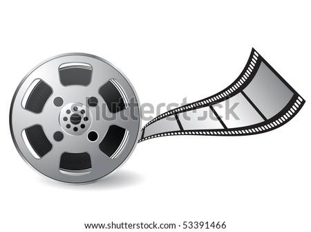 film reel - stock vector