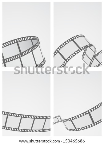 film reel abstract background set - stock vector