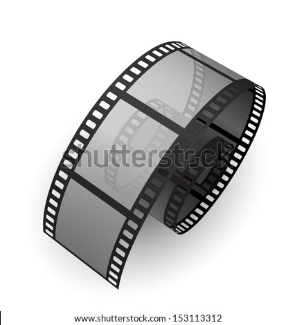 film reel 3d - stock vector