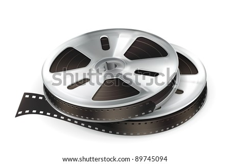 Film Reel, vector - stock vector
