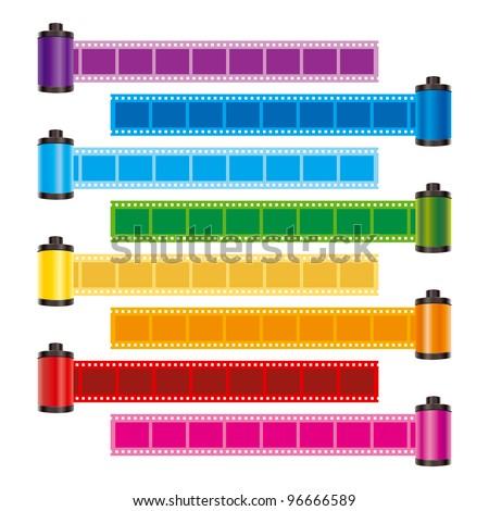 film roll color vector - stock vector