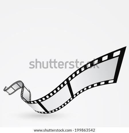 film roll moving design abstract background - stock vector