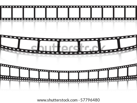 Film strip background collection - stock vector