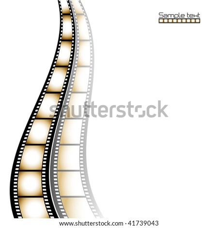 Film strip background with place for text.Vector
