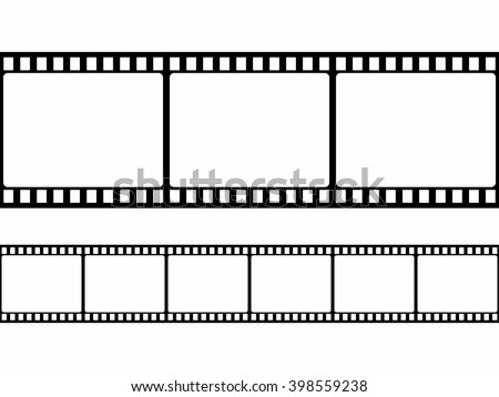 Film Strip Frame Set Flat Style Stock Vector HD (Royalty Free ...