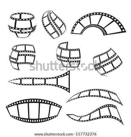 film strip illustration isolated on white background - stock vector