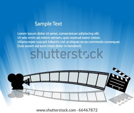 Film Strip Illustration : Vector - stock vector