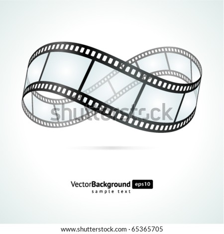 Film strip infinity vector background - stock vector