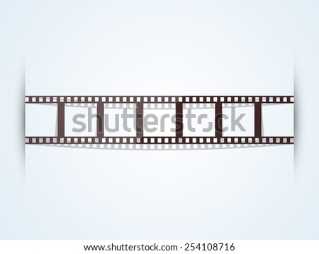 Film strip on stylish shiny background.