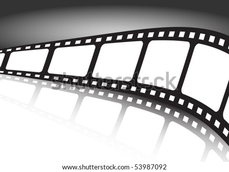 Film strip reflected  background illustration