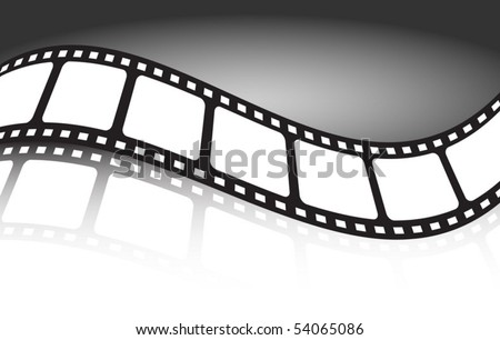 Film strip reflected   illustration