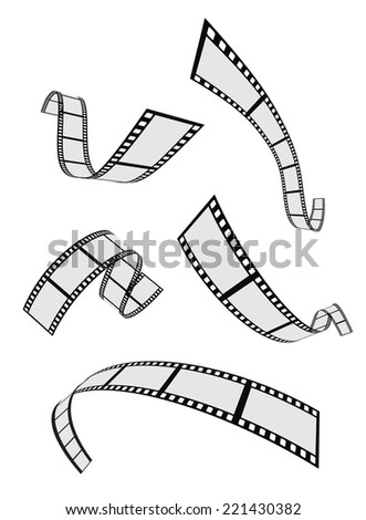 film strip roll 3d set design - stock vector