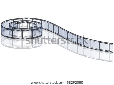 film strip roll, eps10 vector illustration - stock vector