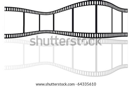 film strip vector - stock vector