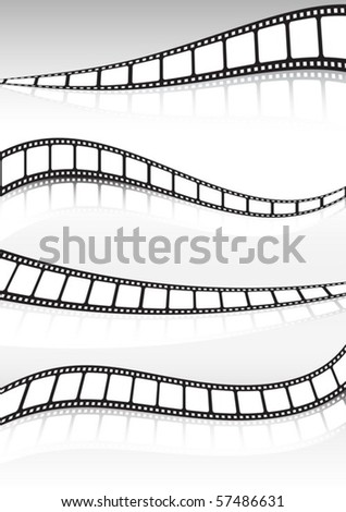 Film strip  vector background illustration set - stock vector