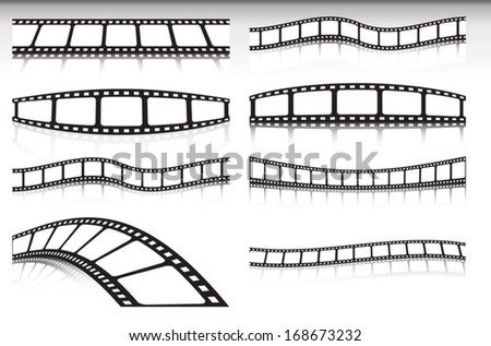 Film strip vector background set - Cinema banner  illustration  collection for vector design backgrounds  - stock vector
