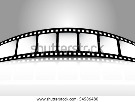 Film strip vector banner