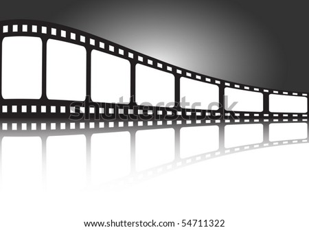 Film strip  vector illustration banner