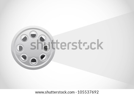 film strip with space for copy. vector illustration - stock vector