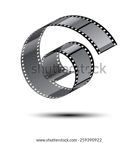film stripe curl - stock vector