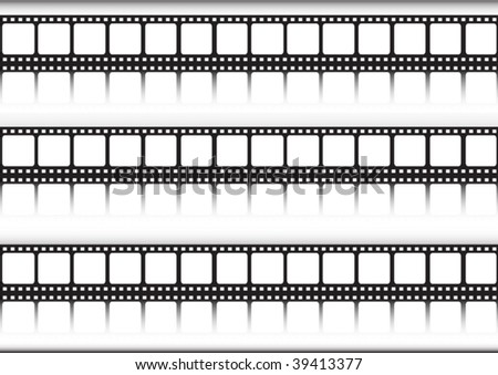 Film strips in a row