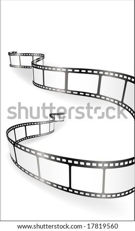 film strips - vector - stock vector
