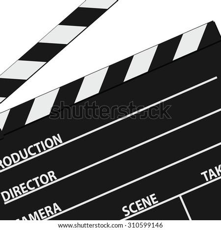 film tape symbol black vector silhouette - stock vector