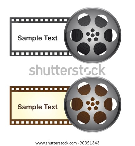 film tape with space to copy over white background. vector - stock vector