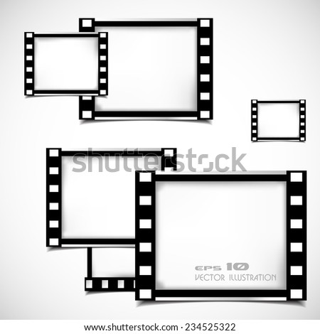 Films Frame Abstract Illustration - stock vector